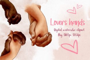 Hands of Lovers Clipart , Romantic, Love Graphic Illustrations By Arte de Catrin 1