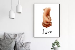 Hands of Lovers Clipart , Romantic, Love Graphic Illustrations By Arte de Catrin 2