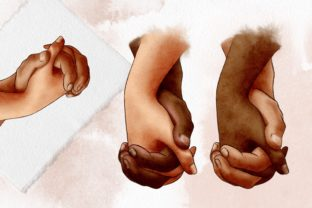 Hands of Lovers Clipart , Romantic, Love Graphic Illustrations By Arte de Catrin 4