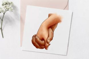 Hands of Lovers Clipart , Romantic, Love Graphic Illustrations By Arte de Catrin 5