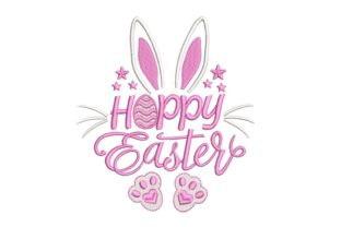 Print on Demand: Happy Easter Bunny Easter Embroidery Design By ArtEMByNatali