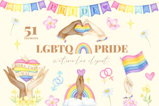 LGBT Pride Clipart, Pride Peace Love Graphic Illustrations By SipkaDesigns