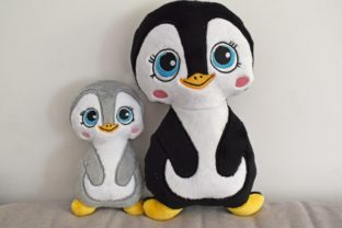 Penguin Stuffie ITH Baby Animals Embroidery Design By nolimitsdesignPL