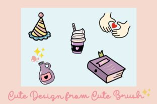 Print on Demand: Procreate Brush Stamp Cute Things Doodle Graphic Brushes By AchitaStudio 4