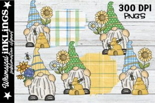 Sunflower Lovin' Gnomes Graphic Illustrations By Whimsical Inklings
