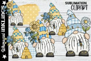 Sweet Bee Gnomes Graphic Illustrations By Whimsical Inklings