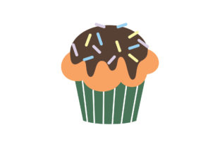 Sweet Cupcakes Flat Style Graphic Illustrations By zia studio 1