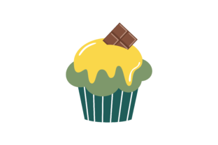 Sweet Cupcakes Flat Style Graphic Illustrations By zia studio 3