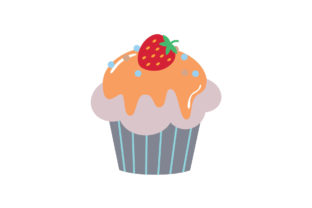 Sweet Cupcakes Flat Style Graphic Illustrations By zia studio