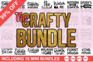 Print on Demand: The Crafty SVG Bundle Graphic Crafts By Designdealy