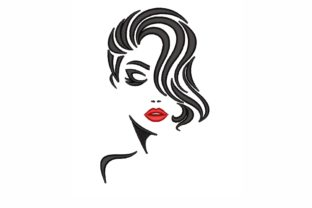 Woman Beauty Embroidery Design By LizaEmbroidery