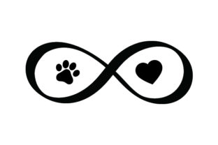 Paw Print and Heart Infinity Sign Animals Craft Cut File By Creative Fabrica Crafts