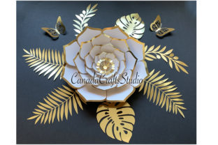 3D Paper Flower Set 72 Graphic 3D Flowers By Canada Crafts Studio