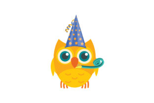 Birthday Owls Collection Graphic Illustrations By zia studio