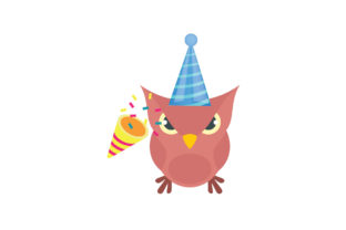 Birthday Party Owl Graphic Illustrations By zia studio