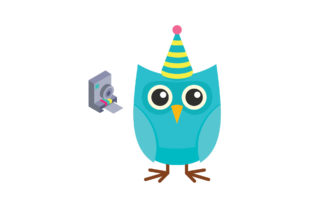 Birthday with Owl Graphic Illustrations By zia studio