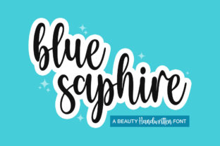 Print on Demand: Blue Saphire Serif Font By Skinny type 1