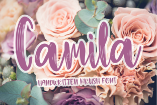 Print on Demand: Camila Display Font By Creative Zone 1