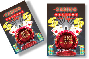 Casino Flyer Graphic Print Templates By Print Template Designer