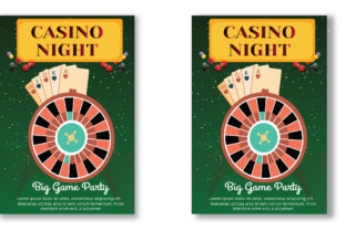Casino Flyer Template Graphic Print Templates By Print Template Designer