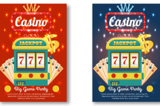 Casino Magazine Ad or Flyer Template Graphic Print Templates By Print Template Designer