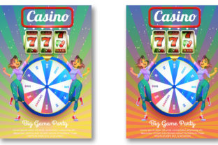 Casino Night Flyer Template Graphic Print Templates By Print Template Designer