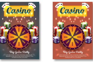 Casino Royale Flyer Plus FB Cover Graphic Websites By Print Template Designer