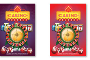 Casino Royale Flyer  Template Graphic Print Templates By Print Template Designer