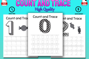 Print on Demand: Count and Trace Toddler Workbook KDP Graphic PreK By Funnyarti
