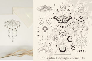 Divine Logo Elements. Esoteric, Mystic. Graphic Logos By Olya.Creative