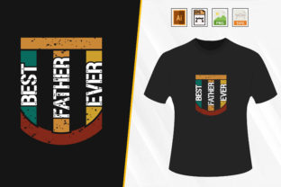 Print on Demand: Father's Day T-shirt Design for Best Dad Graphic Print Templates By Trendy Graphics