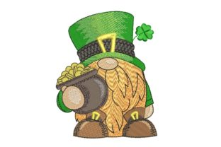 Print on Demand: Gnome Patrick's Day St Patrick's Day Embroidery Design By ArtEMByNatali