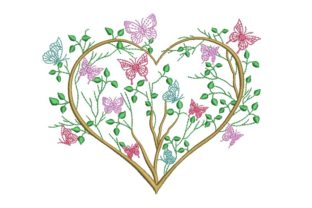 Print on Demand: Heart Valentine's Day Embroidery Design By ArtEMByNatali