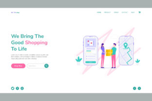 Print on Demand: Home Delivery Website Landing Page Graphic Landing Page Templates By themesfusion