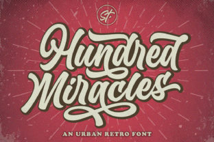 Print on Demand: Hundred Miracles Display Font By Subectype 1