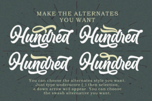 Print on Demand: Hundred Miracles Display Font By Subectype 8