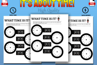 Print on Demand: It's About Time! Telling Time Activities Graphic 1st grade By Funnyarti