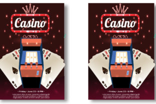 New Casino Flyer Template Graphic Print Templates By Print Template Designer