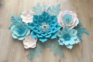 Paper Flower Bundle 28 Graphic 3D Flowers By Canada Crafts Studio