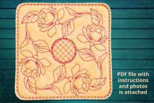 Placemat Roses Wreath Floral Wreaths Embroidery Design By Beautiful Embroidery