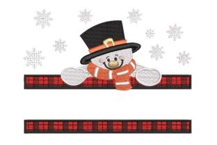 Print on Demand: Snowman Christmas Embroidery Design By ArtEMByNatali 1