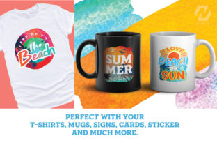 Print on Demand: Summer and Beach Sublimation Bundle Graphic Illustrations By nesdigiart 5