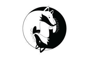 Yin and Yang Foxes Animals Craft Cut File By Creative Fabrica Crafts