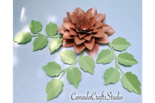 3d Paper Flower Template 56 + Leaf Graphic 3D Flowers By Canada Crafts Studio
