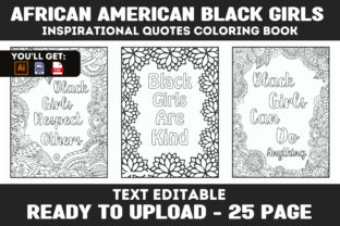Print on Demand: Black Girls Inspiration Coloring Book Graphic Coloring Pages & Books Kids By Infinite Desings