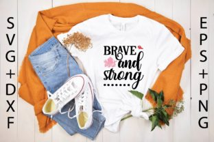 Brave and Strong Graphic Print Templates By designstore