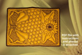 Cover for Plastic Cards Sunflower Accessories Embroidery Design By Beautiful Embroidery 1