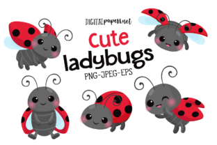 Print on Demand: Cute Little Ladybug Graphic Illustrations By DigitalPapers