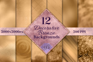 Print on Demand: Decorative Bronze Backgrounds Graphic Backgrounds By SapphireXDesigns