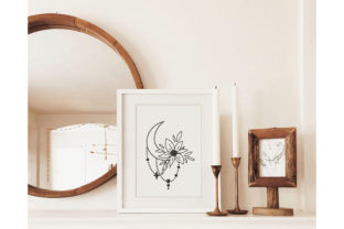 Floral Moon, Celestial Moon Graphic Illustrations By MySpaceGarden 3